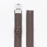 Zipper métal coton délavé marron - 60cm x2 - 468