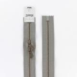 Zipper métal coton délavé gris - 60cmx2 - 468