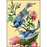 Canevas antique 32/50 oiseaux - 47