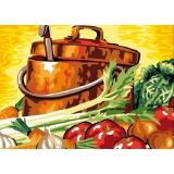 Canevas antique 32/50 soupe de legumes - 47