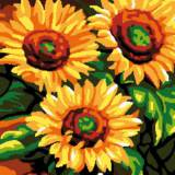 Canevas Luc antique 32/50 Tournesols - 47