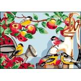 Canevas antique 32/50 x 2 le paradis des oiseaux - 47