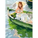 Canevas Luc antique 32/50 x 2 La barque - 47