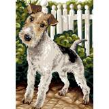 Canevas Luc antique 32/50 x 2 Fox terrier - 47