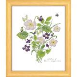 Violettes et fleurs de pommier - 47