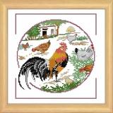 Kit aïda coq et poules - 47