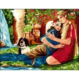 Canevas antique 50/65 l'amour éternel - 47