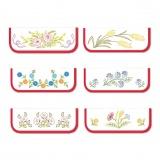 6 poches serviettes c blc gansées fleur a - 47