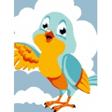 Kit canevas blanc 20/25 oiseau - 47