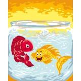 Kit canevas bl 20/25 les poissons - 47