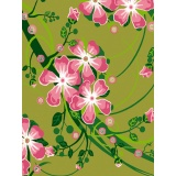 Kit canevas blanc 25/30cm fleurs roses - 47