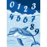 Kit canevas bl 25/30 dauphins - 47