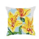 Kit coussin soudan 50/50cm fleurs jaune - 47