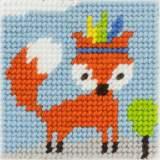 Kit canevas soudan 20x20 foxy petit renard rusé - 47