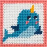 Kit canevas soudan20x20 Kiki le dauphin magique - 47