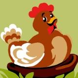 Kit canevas soudan 20/20cm poule - 47