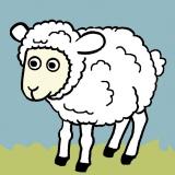 Kit canevas soudan 20/20cm mouton - 47