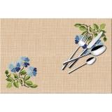 Set de table point compte aïda pvc fleurs bleues - 47