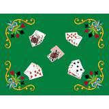 Kit tapis jeu de carte en feutrine verte 45/65 - 47