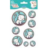 Sticker textile aladine médaillon chat - 470