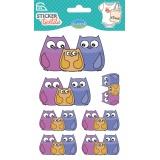 Sticker textile Aladine 3 chouettes - 470