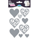 Sticker textile aladine coeur glitter - 470