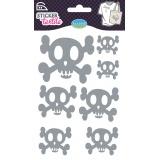 Sticker textile aladine tete de mort glitter - 470