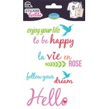 Sticker textile Aladine enjoy your life - 470
