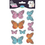 Sticker textile Aladine papillon Liberty - 470