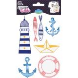 Sticker textile aladine marin - 470
