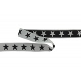 Ceinture élastique 40mm fd gris/étoiles noires - 471