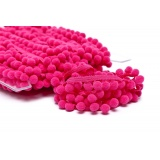 Galon pompon 18mm rose fonce - 471