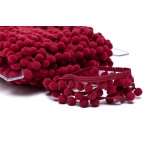 Galon pompon 18mm bordeaux - 471