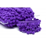 Galon pompon 18mm violet - 471