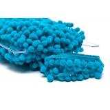Galon pompon 18mm turquoise - 471