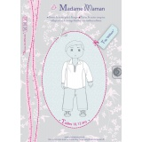 Patron Madame Maman top William 10-12 ans - 472