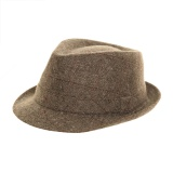 Trilby mixte tweed laine/poly - gris clair t.59 - 473