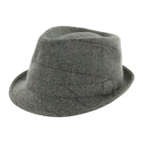 Trilby mixte tweed laine/poly - gris clair t.60 - 473