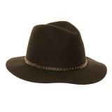 Fedora 100% laine  noir t.57 - 473
