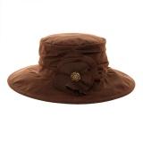 Chapeau souple f 100% coton huilé - marron t.57 - 473