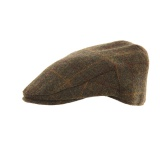 Casquette plate tweed laine/poly - kaki t.57 - 473