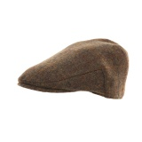 Casquette plate tweed marron t.59 - 473