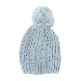 Bonnet enfant pompon bleu - 473