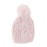 Bonnet enfant pompon rose - 473