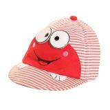Casquette enfant - coton rouge t.50 visage - 473
