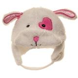 Bonnet lapin blanc 100% polye t.44/46 - lot de 2 - 473