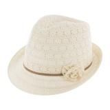Chapeau femme dentelle t57 blanc - 473