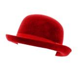 Chapeau melon 100% laine  rouge t.57 - 473