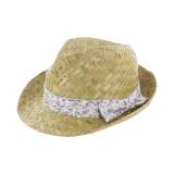 Chapeau paille femme t57 violet - 473