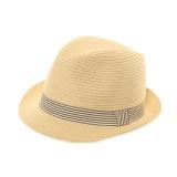 Chapeau mixte paillle papier + ruban marin t.59 - 473